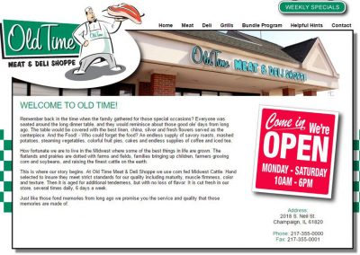 Old Time Deli Website